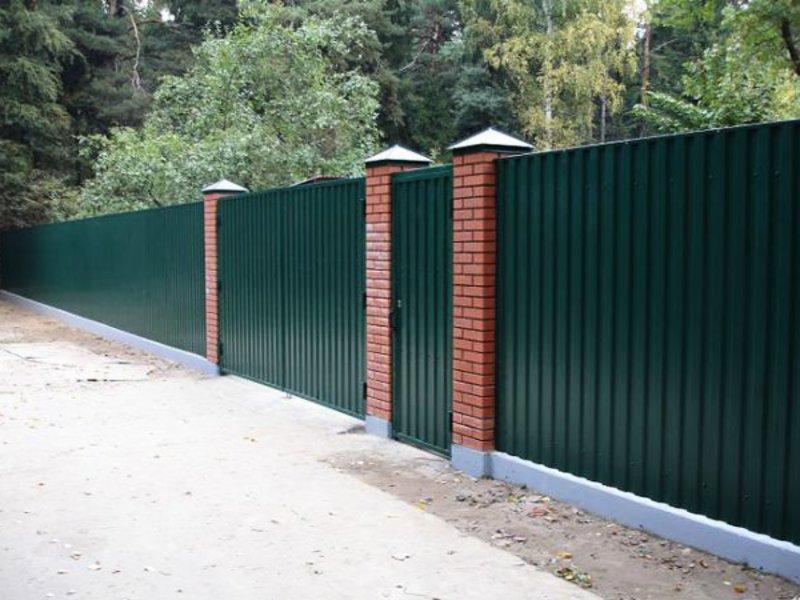 Забор в Луховицах