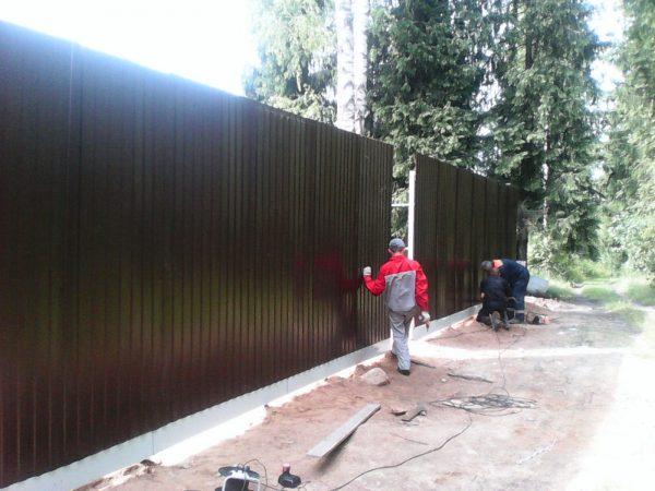 Забор в Шацке